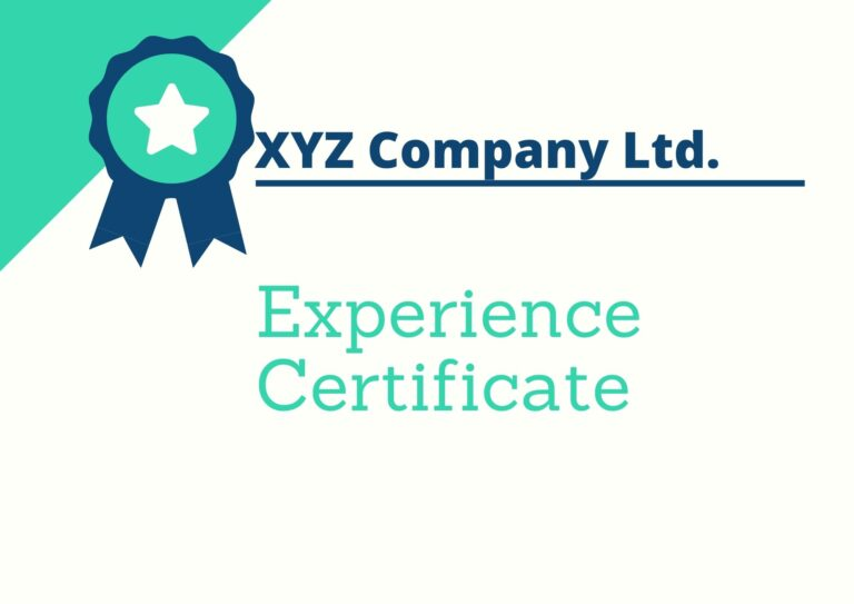 Experience Certificate Format | Download Format & Samples | Word, PDF