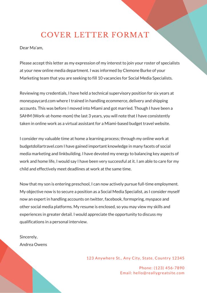 job application letter sample after employment gap - cover letter after a break